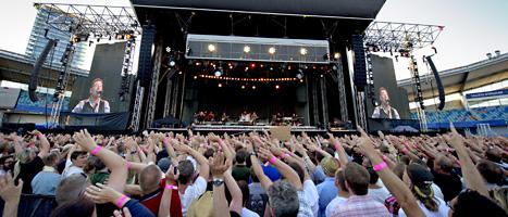 Hundratals människor blev utan biljetter till konserterna i Göteborg i helgen. FOTO: Adam Ihse/SCANPIX