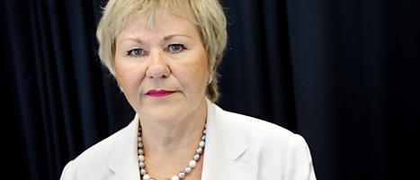 Christina Lugnet får inte längre vara chef för Tillväxtverket. FOTO: Erik Mårtensson/SCANPIX