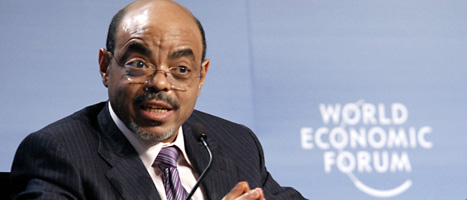 Etiopiens premiärminister Meles Zenawi har dött. Foto: Khalfan Said/Scanpix