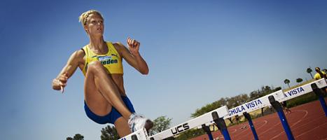 Carolina Klüft avslutar karriären med att springa 400 meter häck. FOTO: Bertil Ericson/SCANPIX