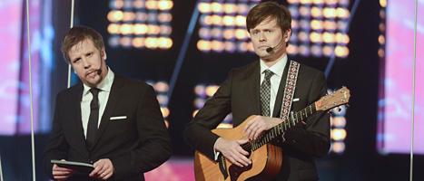 Filip och Fredrik på Kristallen-galan. Foto:Leif R Jansson/Scanpix