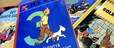 Tintin har kastats ut från Kulturhusets bibliotek i Stockholm. Foto: Claudio Bresciani/Scanpix.