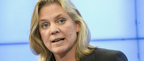 Socialdemokraten Magdalena Andersson. Foto: Bertil Enevåg Ericson/Scanpix