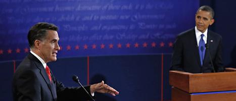 I USA tävlar Mitt Romney och president Barack Obama om vem som ska vinna presidentvalet i november. Foto: Rick Wilking/AP/Scanpix