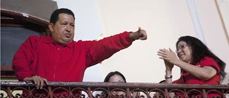 Hugo Chavez får fortsätta som president i Venezuela. Foto: Rodrigo Abd/Scanpix.