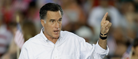 Mitt Romney vill bli USAs nya president. Foto: Tomas Thorén/Scanpix.