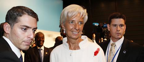 Christine Lagarde är chef för IMF. Foto: Koji Sasahara/Scanpix