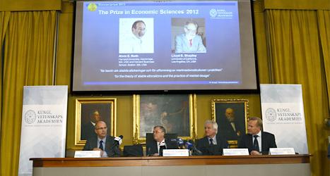 Priset i ekonomi delas ut för att visa att ekonomi också är en vetenskap. Foto: Henrik Montgomery/Scanpix