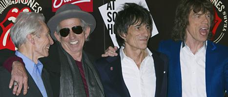 Rockgruppen Rolling Stones fyller 50 år. Foto:Jonathan Short/Scanpix.