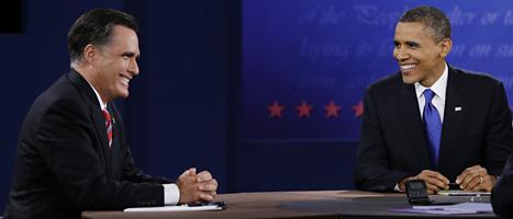 Mitt Romney och Barack Obama. Foto: David Goldman/Scanpix
