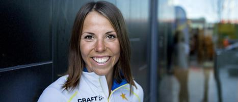 Längdåkaren Charlotte Kalla är sugen på att börja tävla. Foto: Scanpix.