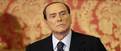 Silvio Berlusconi dömdes för att ha fuskat med skatten. Foto: Luca Bruno/Scanpix.