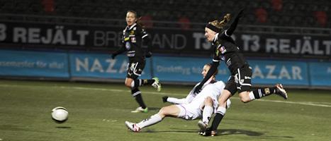 Matchen mellan Umeå och Malmö i damallsvenskan slutade 1-1. Foto:Anna-karin Drugge/Scanpix.