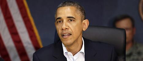 President Barack Obama fick avbryta sina valmöten på grund av ovädret Sandy. Foto: Jacquelyn Martin/Scanpix.