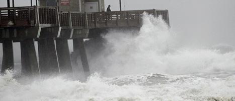 Orkanen Sandy kan bli en av de värsta ovädren som drabbat USA, tror experterna. Foto: Gerry Broome/Scanpix