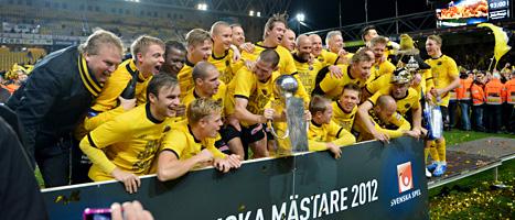 Elfsborg från Borås vann allsvenskan i fotboll för herrar.  Foto: Adam Ihse/Scanpix.