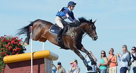 Sara Algotsson Ostholt rider på hästen Mrs Medicott. Foto: Johan Nilsson/Scanpix.