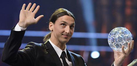 Zlatan Ibrahimovic vann guldbollen för sjunde gången. Foto: Claudio Bresciani/Scanpix.