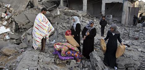 Många vanliga människor i Gaza har skadats eller dödats av Israels bomber. Foto: Eyad Baba/AP/Scanpix.