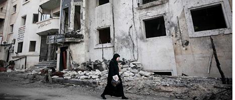 Kriget i Syrien fortsätter. I onsdags bombades ett sjukhus i staden Aleppo och minst 40 människor dödades. Foto: Narciso Contreras/Scanpix.