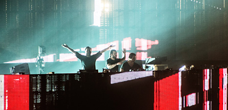 Swedish House Mafia tar farväl av sin publik. Foto Robin Haldert/Scanpix.