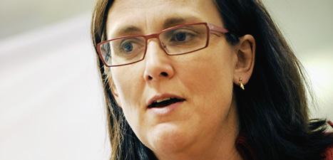 – Sexbrotten mot barn måste stoppas säger EU-komissionären  Cecilia Malmström. Foto: Ulf Palm/Scanpix.