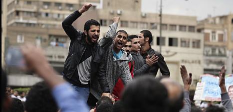 Några av dem som protesterade mot president Mursi i Egypten. Foto: Hassan Ammar/Scanpix
