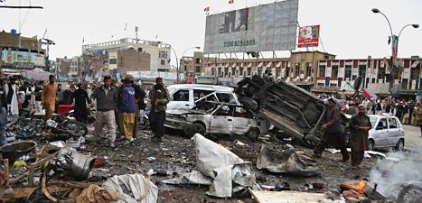 Två bomber sprängdes i staden Quetta i Pakistan. Foto: Arshad Butt/Scanpix