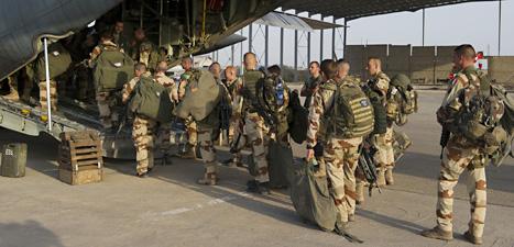 Franska soldater i landet Mali i Afrika. Foto: R Nicolas Nelson/Scanpix.