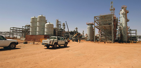 Här kidnappades 40 oljearbetare av terrorister. Foto: AP/Scanpix.