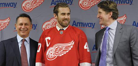 Henrik Zetterberg blir lagkapten i Detroit. Foto: David Guralnick/Scanpix.