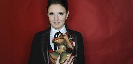 Gabriella Pichler fick pris för filmen Äta sova dö. Foto:Erik Mårtensson/Scanpix.