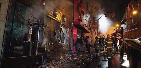 Många dödades i branden i nattklubben i staden Santa Maria. Foto: AP/Scanpix.