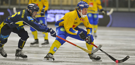 Sverige vann mot Kazakstan i bandy. Foto: Anders Wiklund/Scanpix.