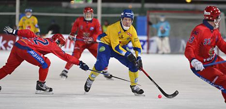 Sverige vann mot Ryssland. Foto: Anders Wiklund/Scanpix.