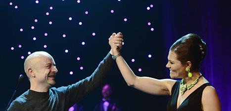 Jonas Gardell och prinsessan Victoria. Foto: leif R Jansson/Scanpix.