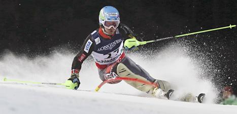 Ted Ligety körde snabbast av alla också i superkombinationen där åkarna både körde super-G och slalom. Foto: Alessandro Trovati/Scanpix