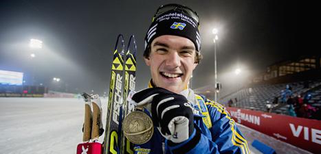 Fredrik Lindström med brons-medaljen. Foto: Stian Lysberg Solum/Scanpix