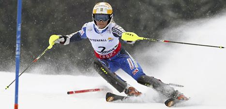 Frida Hansdotter blev trea i VM i slalom. Foto: Alessandro Trovati/Scanpix.