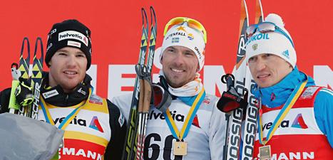 Johan Olsson är Sveriges största medaljhopp inför skid-VM  som börjar på torsdag. Foto:  Arno Balzarini/Scanpix.