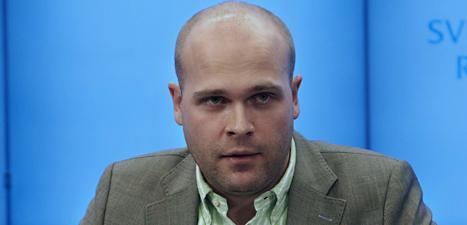 SD-politikern Erik Almqvist slutar i riksdagen.  Foto: Fredrik Persson/Scanpix.