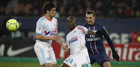 Zlatan är i bra form. Men han får inte spela i PSGs nästa match i Champions League. Foto: Thibaault Camus/Scanpix.