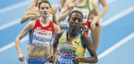 Abeba Aregawi vann sprang ifrån alla i EM-loppet på 1500 meter i Göteborg. Foto: Adam Ihse/Scanpix.
