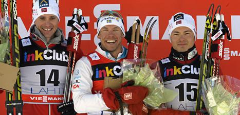 Emil Jönsson är vinterns bästa sprintåkare. Foto: Markku Ulander/Scanpix.