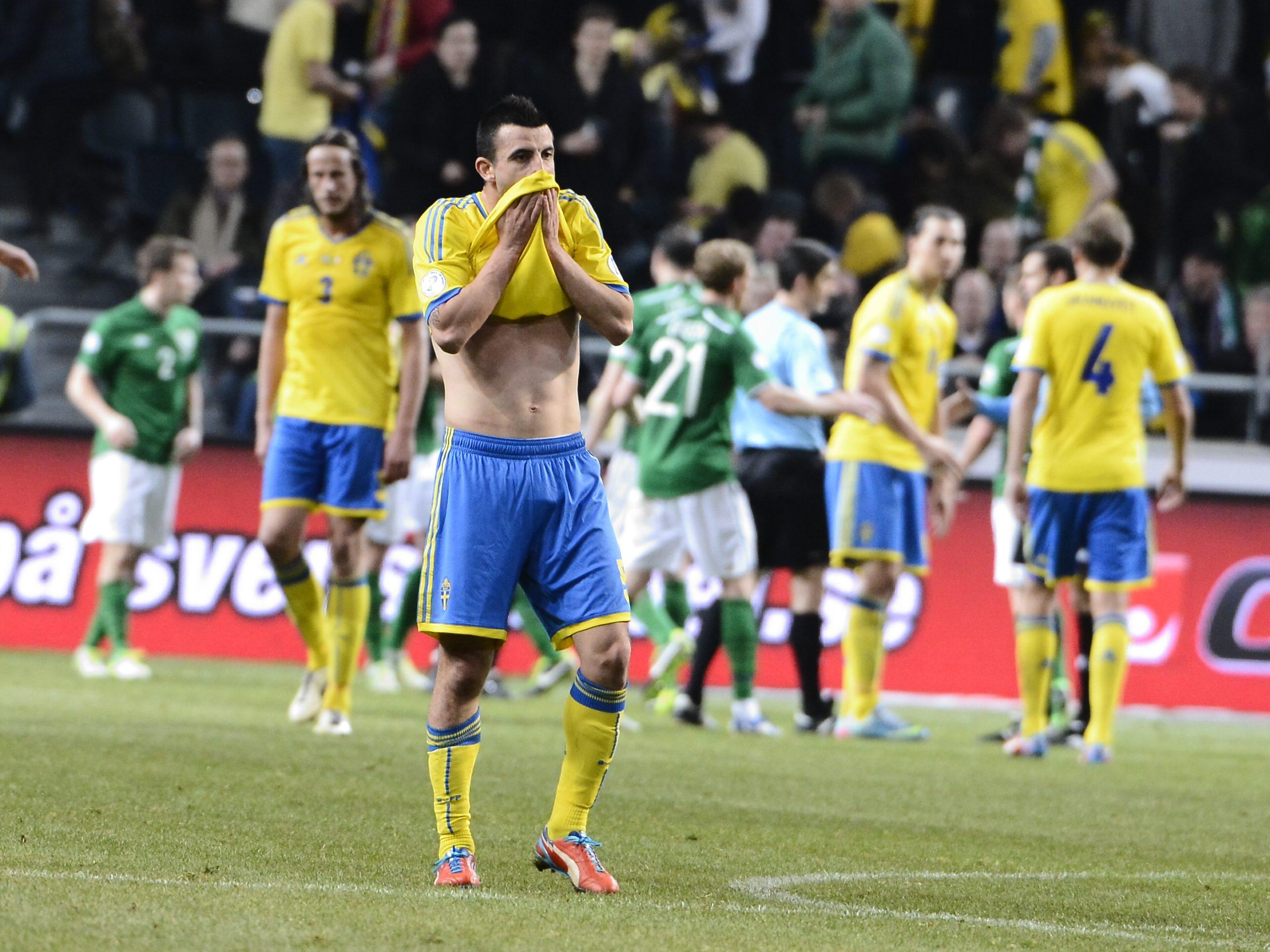 Sverige spelade oavgjort mot Irland. Foto: Claudio Bresciani/Scanpix.