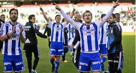 IFK Göteborg vann stort mot Häcken i årets första match i allsvenskan i fotboll. Foto: Adam Ihse/Scanpix.