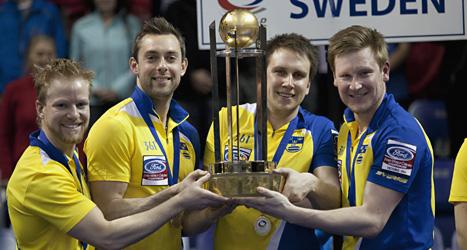 Sverige är världsmästare i curling. Foto: Chad Hipolito/Scanpix.