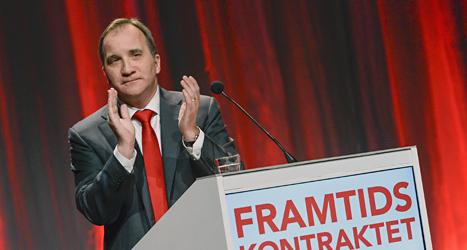 Socialdemokraternas ledare Stefan Löfven. Foto: Claudio Bresciani/Scanpix.