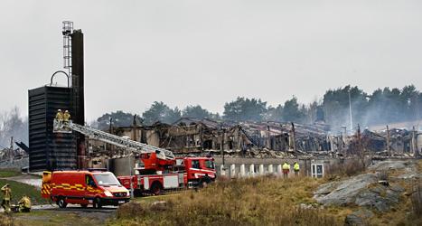 Torslandaskolan förstördes i branden 2009. Foto: Björn Larsson Rosvall/Scanpix.