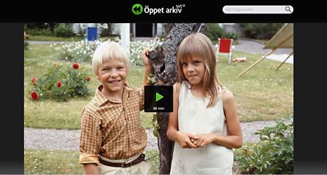 Den vita stenen är en av barnserierna du kan se i SVTs Öppna Arkiv. Foto: SVT